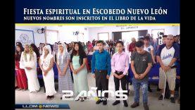 Fiesta espiritual en Escobedo Nuevo León, nuevos nombres son inscritos en el libro de la vida.