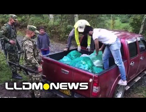 EJÉRCITO DE COLOMBIA ACOMPAÑA ENTREGA DE VÍVERES.